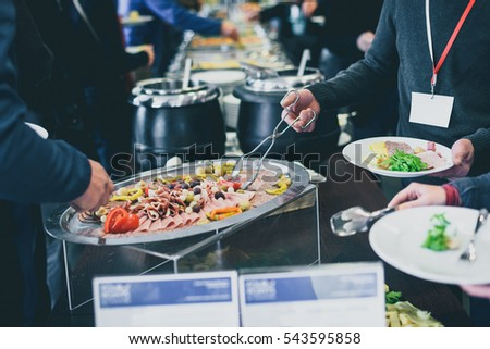 cuisine culinary buffet dinner catering dining food celebration party concept group of people in all - Buffet Retro Cuisine
