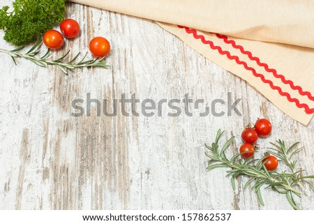 Culinary food background. Copy space composition