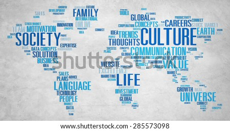 Culture Community Ideology Society Principle Concept - stock photo
