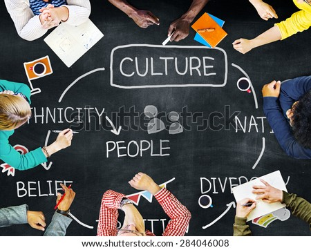 Culture Ethnicity Diversity Nation People Concept - stock photo
