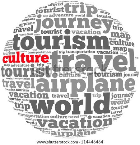 Culture info-text graphics and arrangement concept on white background (word cloud) - stock photo