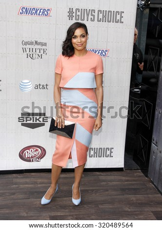 "CULVER CITY, CA - JUNE 07, 2014: Rosario Dawson at the Spike TV's ""Guys Choice 2014"" held at the Sony Pictures Studios in Los Angeles on June 7, 2014."