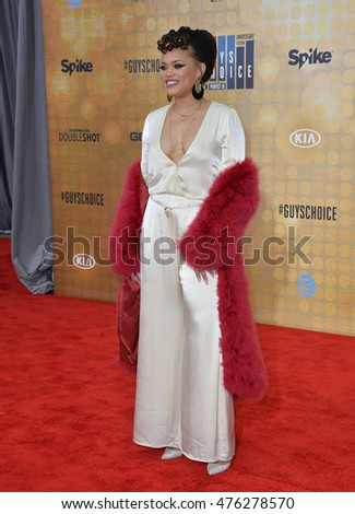 CULVER CITY, CA. June 4, 2016: Singer Andra Day at Spike TV's 10th Annual Guys Choice Awards at Sony Pictures Studios, Culver City, CA.