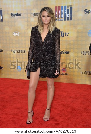 CULVER CITY, CA. June 4, 2016: Supermodel Chrissy Teigen at Spike TV's 10th Annual Guys Choice Awards at Sony Pictures Studios, Culver City, CA.
