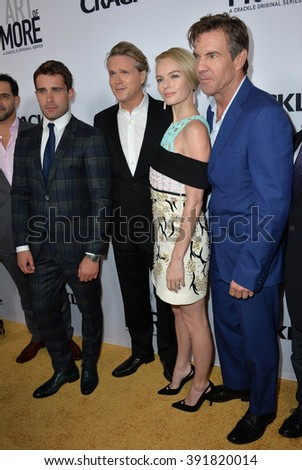 "CULVER CITY, CA - OCTOBER 29, 2015: Christian Cooke, Cary Elwes, Kate Bosworth & Dennis Quaid at the  premiere for ""The Art of More"" at Sony Pictures Studios"