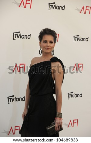 CULVER CITY - JUN 7: Deborah Secco at the 40th AFI Life Achievement Award honoring Shirley MacLaine held at Sony Pictures Studios on June 7, 2012 in Culver City, California - stock photo
