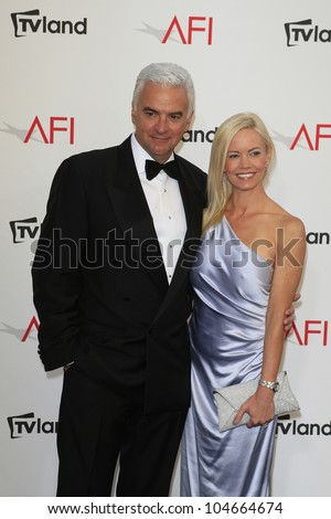 CULVER CITY - JUN 7: John O'Hurley, Lisa Mesloh at the 40th AFI Life Achievement Award honoring Shirley MacLaine held at Sony Pictures Studios on June 7, 2012 in Culver City, California - stock photo