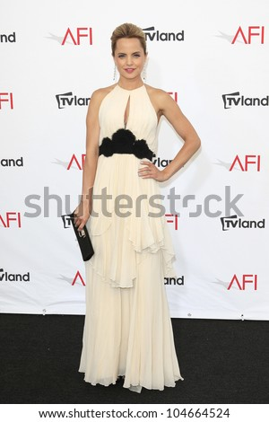 CULVER CITY - JUN 7: Mena Suvari at the 40th AFI Life Achievement Award honoring Shirley MacLaine held at Sony Pictures Studios on June 7, 2012 in Culver City, California - stock photo