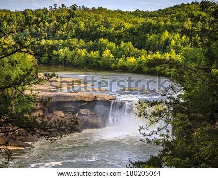 Cumberland falls in Kentucky - stock photo