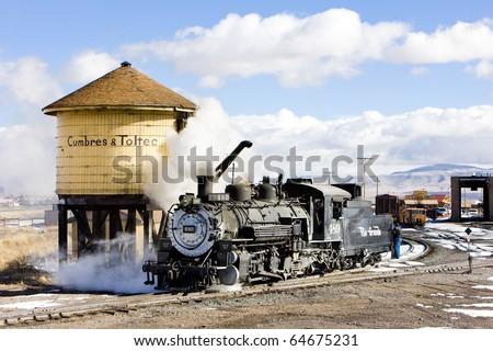 Cumbres and Toltec Narrow Gauge Railroad, Antonito, Colorado, USA - stock photo