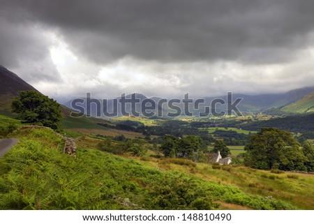 Cumbrian landscape near Buttermere, England - stock photo