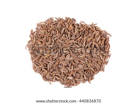 Cumin seeds isolated on white