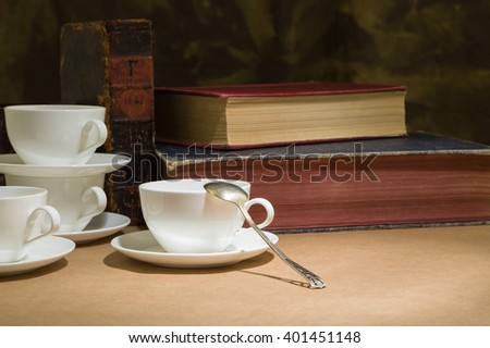 cup and saucer on a bistro table