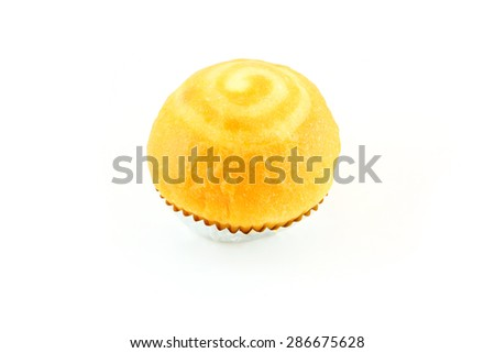cup bread on white background - stock photo