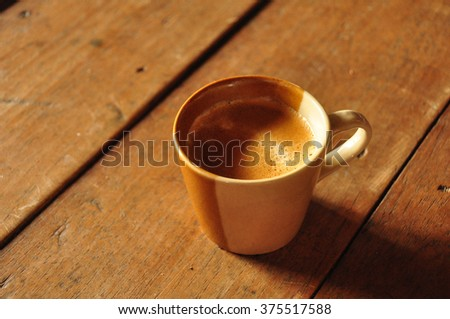 Cup coffee - stock photo