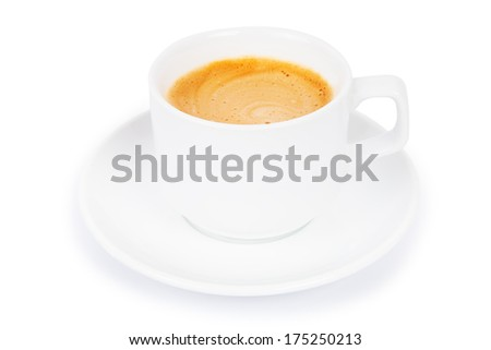 cup coffee isolated on white