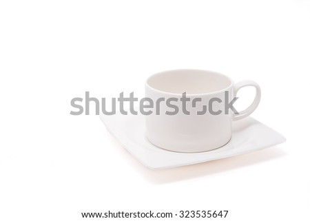 Cup coffee isolated on white background