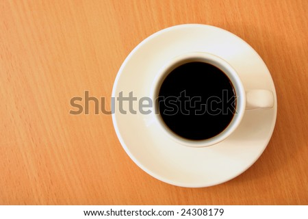 cup coffee on table