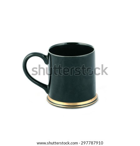 cup coffee on white background - stock photo