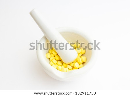 Cup for grinding pill and tablet - stock photo