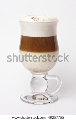 Cup full of coffee latte