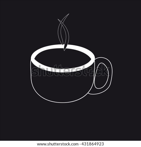 Cup icon black white