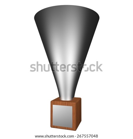 Cup isolated over white, square image, 3d render
