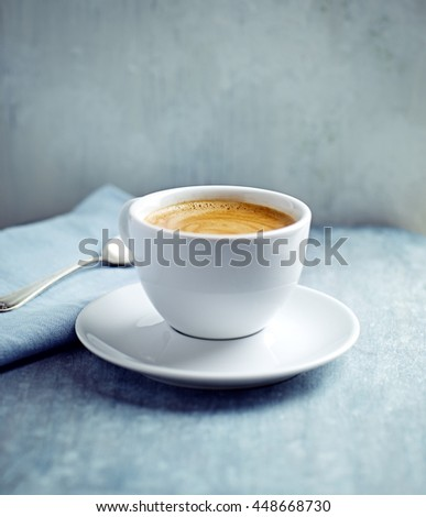 Cup of Cafe Crema - stock photo