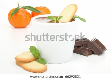 cup of chocolate mousse