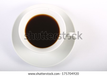 cup of coffee and saucer close up