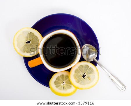 Cup of coffee - breakfast - stock photo