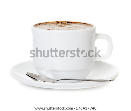 cup of coffee cappuccino - stock photo