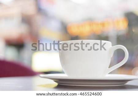 cup of coffee hot cappuccino bokeh background