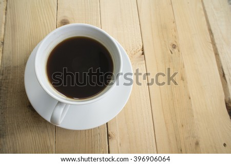 cup of coffee in morning