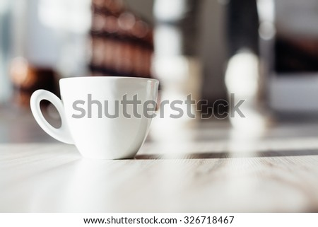 Cup of coffee in the room