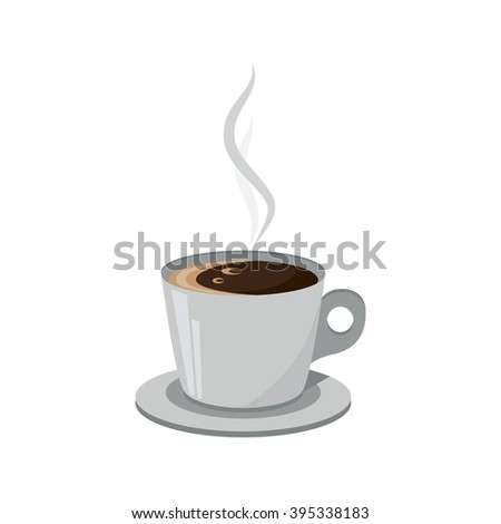 Cup of coffee isolated on a white background.