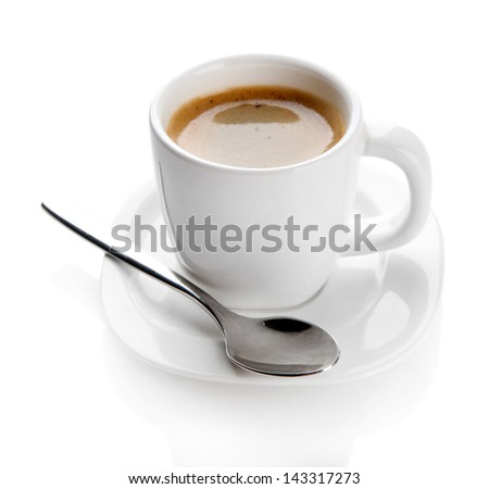 Cup of coffee, isolated on white
