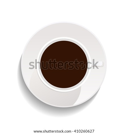 cup of coffee isolated on white background.
