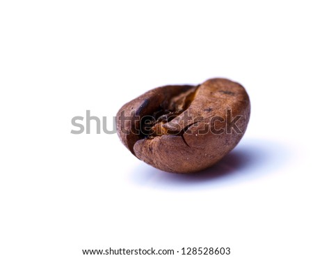 cup of coffee on a background coffee beans