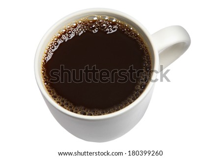 Cup of Coffee on white background  - stock photo