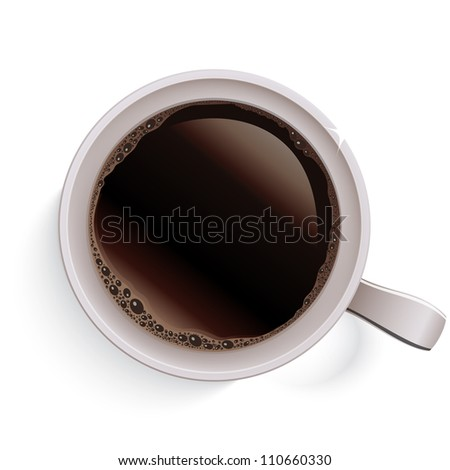 Cup of coffee. Raster version, vector file id: 110101124 - stock photo