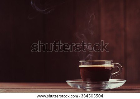 Cup of coffee with 