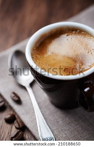 Cup of Espresso (close-up) - stock photo