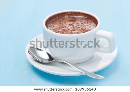 cup of hot chocolate, close-up - stock photo
