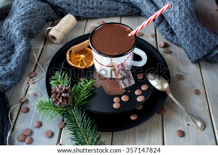 cup of hot cocoa - stock photo