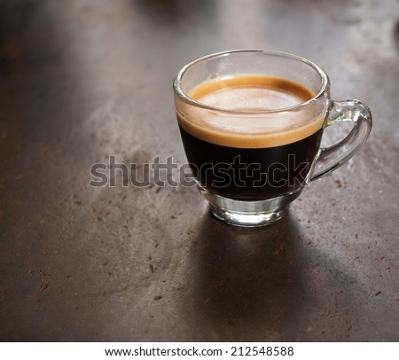 Cup of hot espresso coffee - stock photo