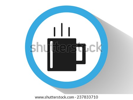 cup of hot tea web icon.