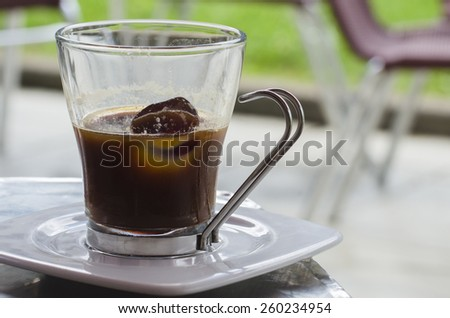 Cup of iced coffee - stock photo
