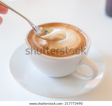 Cup of Lattee Coffee - stock photo