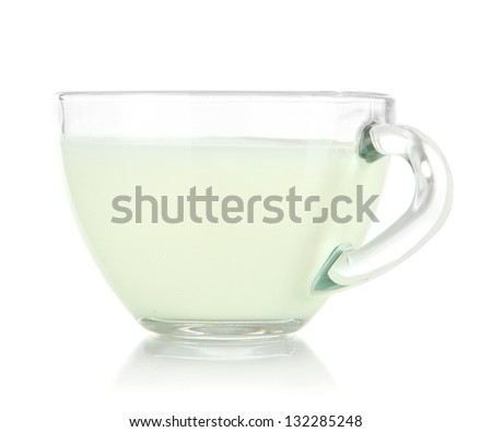 Cup of milk isolated on white